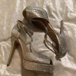 Blush Crystal Studded Thalia Sodi Dress Sandals